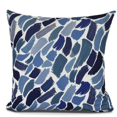 Goodlow Abstract Outdoor Throw Pillow Size: 16 H x 16 W, Color: Blue