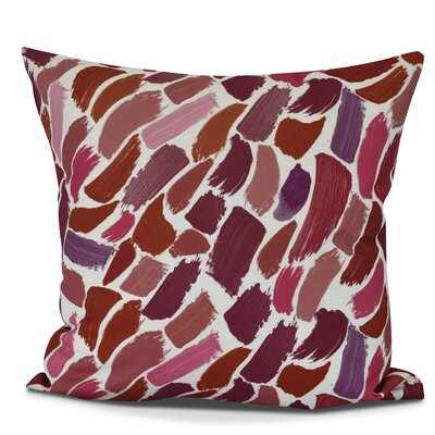 Bueche Abstract Throw Pillow Color: Cranberry, Size: 18 H x 18 W