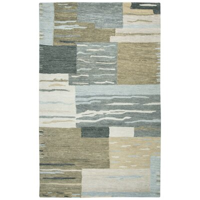 Brui Hand-Tufted Natural/Gray Area Rug Size: Rectangle 5 x 8