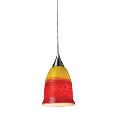 Kingston Seymour 1-Light Pendant Shade Color: Fire
