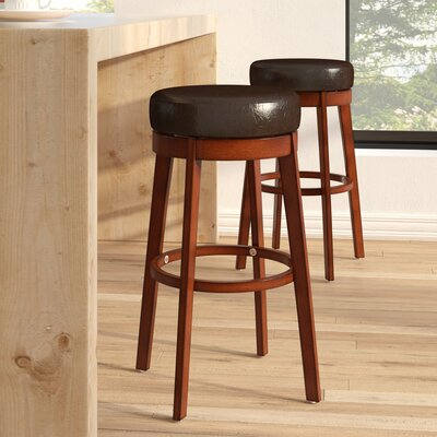Henley 30 Swivel Bar Stool Upholstery: Brown