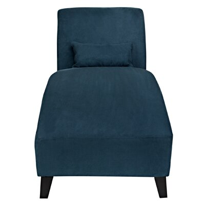 Thomas Chaise Lounge Upholstery: Blue
