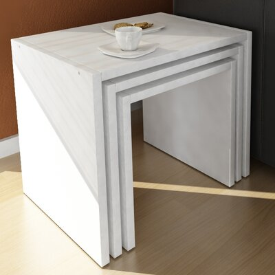 Cody 3 Piece Nesting Tables Color: White