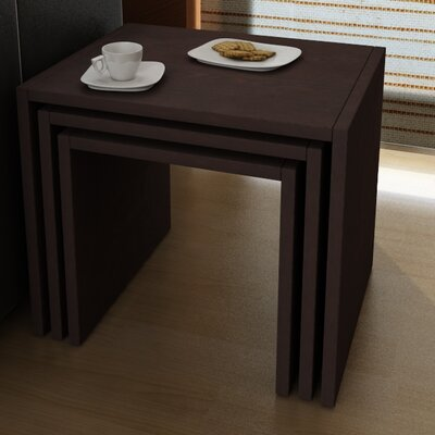 Cody 3 Piece Nesting Tables Finish: Wenge