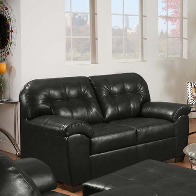 Simmons Upholstery David Loveseat Upholstery: Onyx