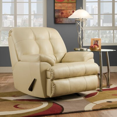 David Manual Rocker Recliner by Simmons Upholstery Color: Pearl