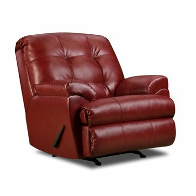 David Manual Rocker Recliner by Simmons Upholstery Color: Cardinal