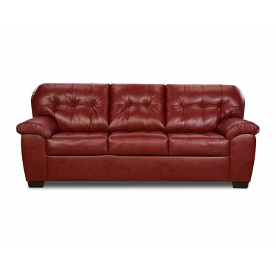 Simmons Upholstery David Queen Sleeper Sofa Upholstery: Cardinal