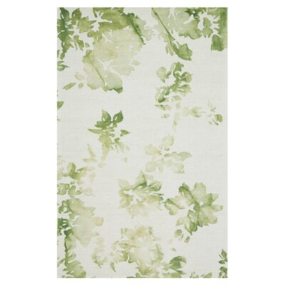 Roslindale Hand-Hooked Avocado Area Rug Size: Rectangle 8 x 11