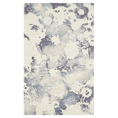 Rosner Hand-Hooked Indigo Area Rug Size: Rectangle 5 x 8