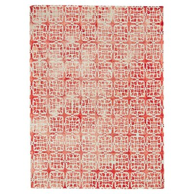 Kimberly Hand-Hooked Pomegranate Area Rug Size: 5 x 8