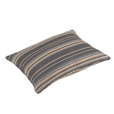 Almon Stripe Piped Indoor/Outdoor Sunbrella Floor Pillow