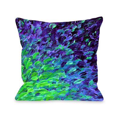 Radius Deep Sea Drift by Julia Di Sano Throw Pillow Size: 18 H x18 W x 3 D