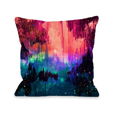Byrd Castles in the Mist 2 by Julia Di Sano Throw Pillow Size: 18 H x18 W x 3 D