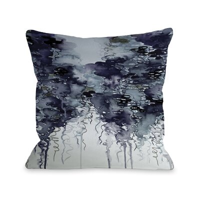 Pimm Midnight Showers Throw Pillow Size: 16 H x16 W x 3 D