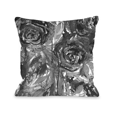 Cyndra Midnight Garden Throw Pillow Size: 18 H x18 W x 3 D