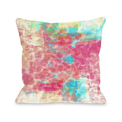 Saya Pastel Jungle Throw Pillow Size: 16 H x16 W x 3 D
