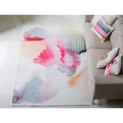 Coombe Dingle Tempura Sunset Pink/Beige Area Rug Rug Size: 5 x 8