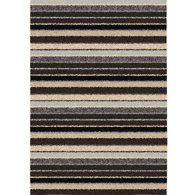Suzette Stripe Black/Gray Blue Area Rug