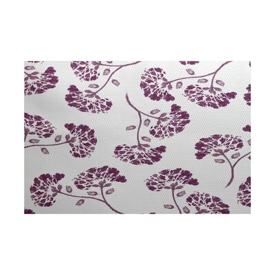 Auburn Purple/White Indoor/Outdoor Area Rug Rug Size: 4 x 6