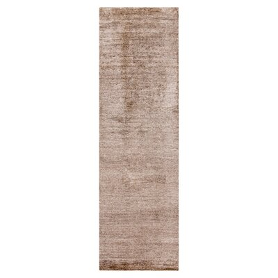 Adrian Dark Taupe Solid Area Rug Rug Size: Runner 26 x 8