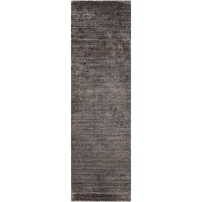 Adrian Hand Woven Charcoal Gray Area Rug Rug Size: Rectangle 2 x 3