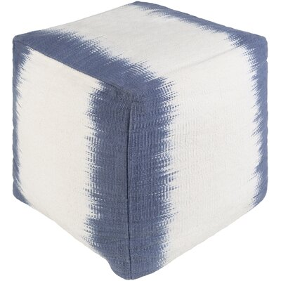 Alton Pouf Ottoman Upholstery: Navy/White