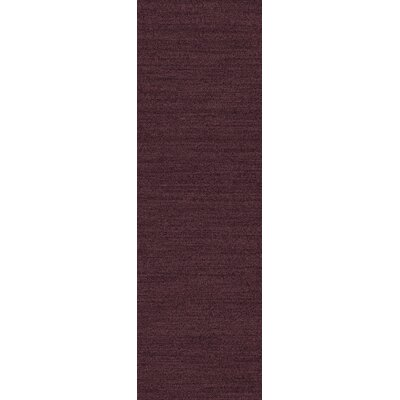 Adrian Plum Solid Area Rug Rug Size: Runner 26 x 8
