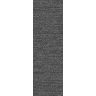Adrian Hand Woven Gray Area Rug Rug Size: Runner 26 x 8