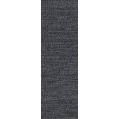 Adrian Light Black Solid Area Rug Rug Size: Runner 26 x 8