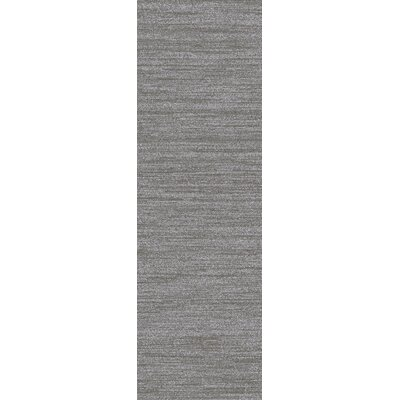 Adrian Hand Woven Light Gray Area Rug Rug Size: Runner 26 x 8