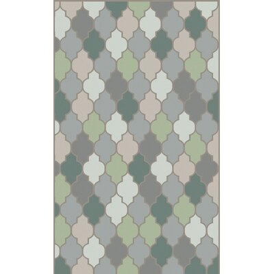 Mazzarella Moss Geometric Area Rug Rug Size: Rectangle 2 x 3