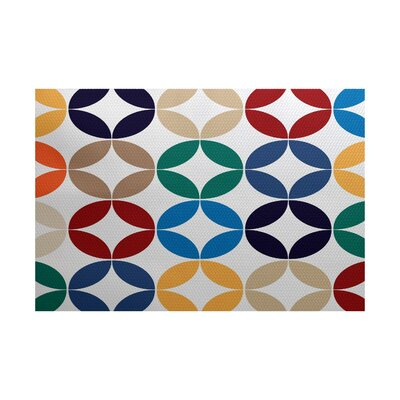 Francisco Green/Blue Indoor/Outdoor Area Rug Rug Size: 4 x 6