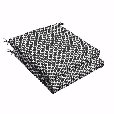Samantha Geometric Indoor/Outdoor Dining Chair Cushion Size: 2.5 H x 19 W x 19 D
