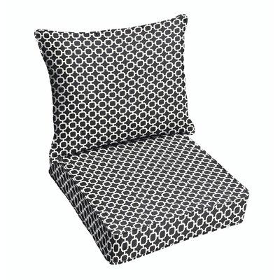 Latitude Run Samantha Geometric Dining Chair Cushion
