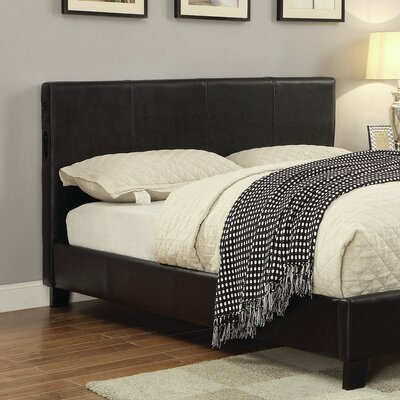 Bertram Upholstered Panel Headboard with Slats Size: Twin