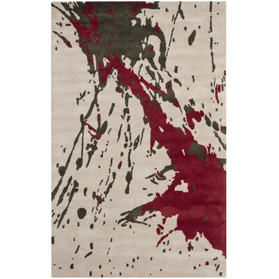Chanler Beige / Red Rug Rug Size: Rectangle 36 x 56