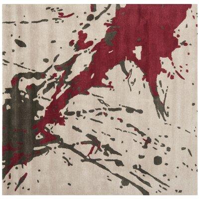 Chanler Beige / Red Rug Rug Size: Square 6'