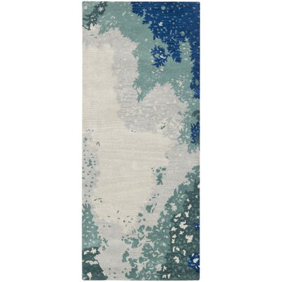 Woodburn Blue Rug Rug Size: Runner 26 x 6