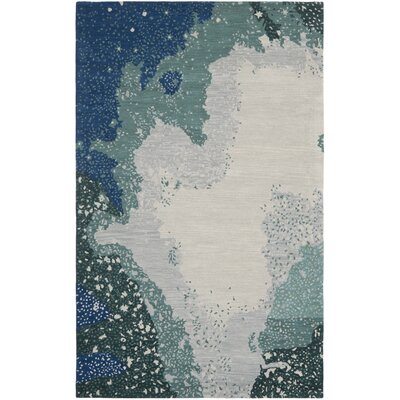 Woodburn Blue Rug Rug Size: Rectangle 36 x 56