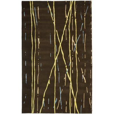 Woodburn Brown / Yellow Rug Rug Size: Rectangle 36 x 56
