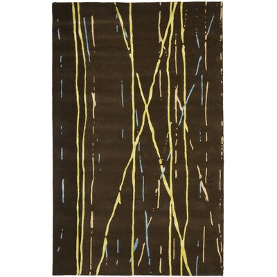 Woodburn Brown / Yellow Rug Rug Size: 5 x 8