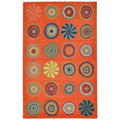 Varley Hand-Tufted Orange Area Rug Rug Size: 5 x 8