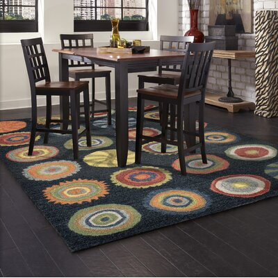 Varley Hand-Tufted Navy Blue Area Rug Rug Size: 36 x 56