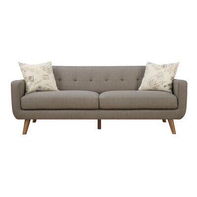 Gaven Mid Century Modern Sofa & Pillow Set