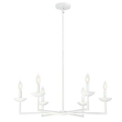 Athenais 6-Light Candle-Style Chandelier