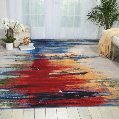 Aikin Crimson Tide Area Rug Rug Size: 99 x 128