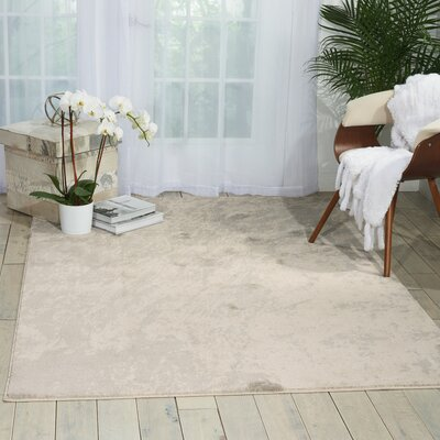 Anegada Ivory/Gray Area Rug Rug Size: 7'10