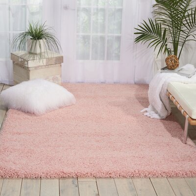 Shelley Blush Area Rug Rug Size: 53 x 75