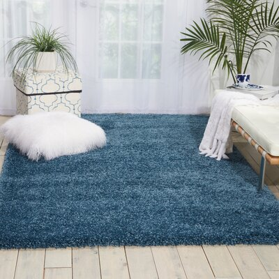 Shelley Slate Blue Area Rug Rug Size: 53 x 75